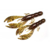 Swim craw (8 cm) Watermelon brown red flakes.