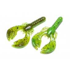 Finesse craw (7 cm) Pumpkin / Chartreuse.