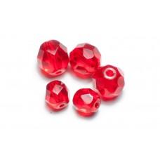 Kralen glas facet geslepen (10x) - Ruby