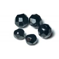 Kralen glas facet geslepen (10x) - Black