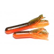 Tube bait (7 cm) Pumpkin / Fluo orange.