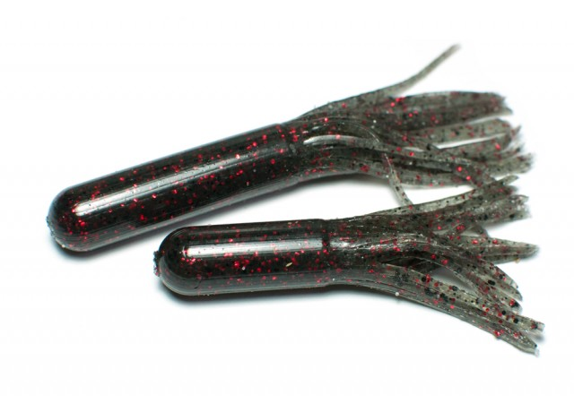Tube bait (9,5 cm) Black & Red.