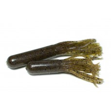 Tube bait (7 cm) Green pumpkin purple spark.
