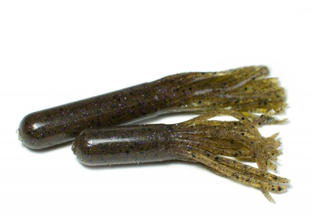 Tube bait (9,5 cm) Green pumpkin purple spark.