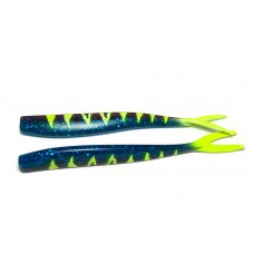 V-staart Junebug Blue Yellow tail striped (17 cm)